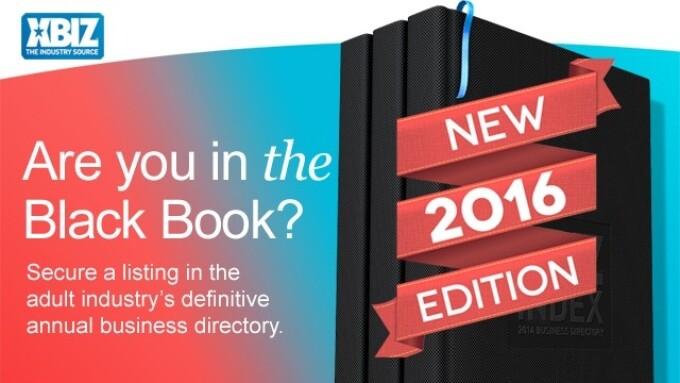 2016 'XBIZ Index' Black Book Available at XBIZ Show, Awards Gala
