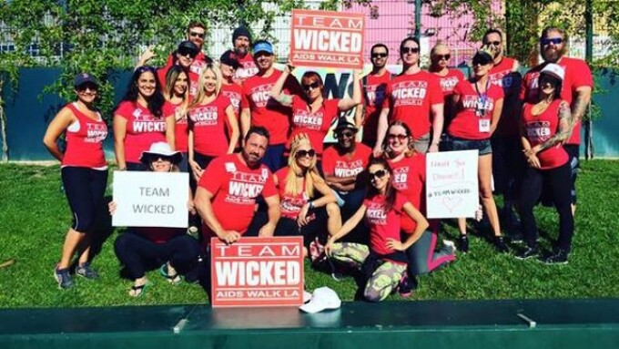 Jessica Drake, Team Wicked Raise Funds at AIDS Walk L.A.