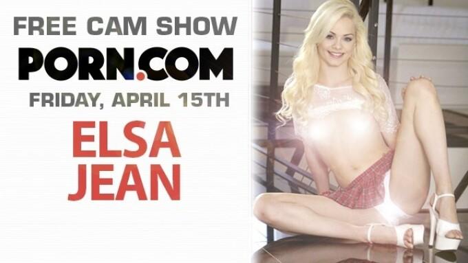 Elsa Jean Returns to Porn.com for Free Cam Show This Friday