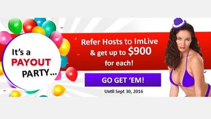 ImLive Celebrates 14 Years With 'Payout Party' for Model Referrals