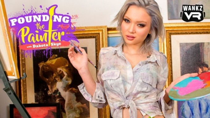 Dakota Skye, Brad Knight in WankzVR's 'Pounding the Painter'