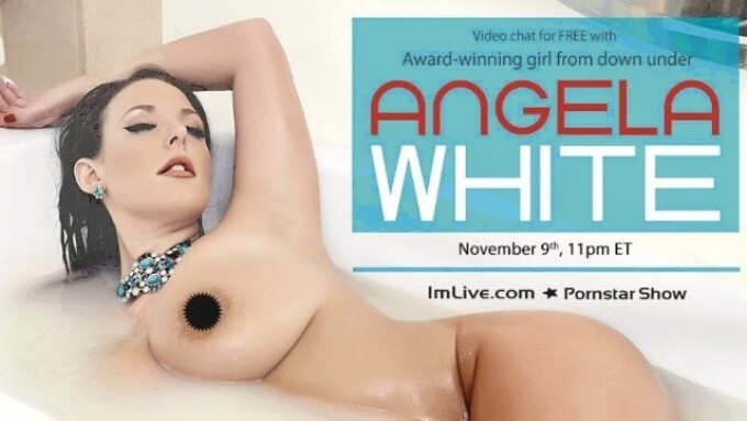 Angela White Scheduled for Wednesday ImLive Video Chat Performance