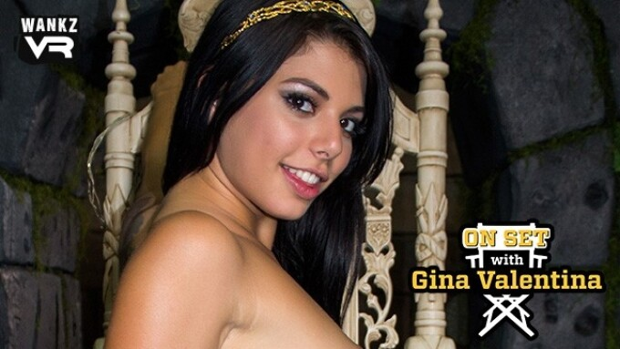 WankzVR Releases Latest Title, 'On Set With Gina Valentina'