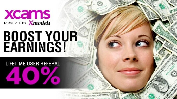 Xmodels Offers 40% Referral Bonus