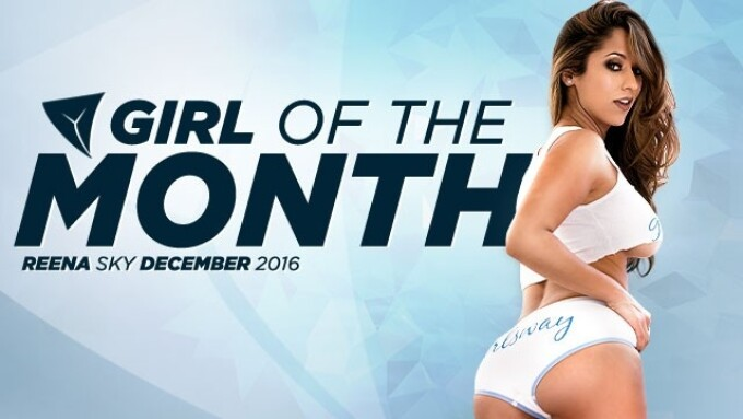 Reena Sky Is Girlsway's December 'Girl of the Month'