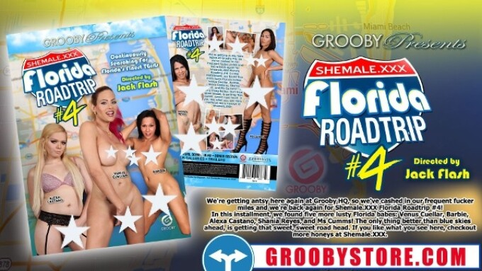 Grooby, Exquisite Offer 'Shemale.xxx Florida Road Trip 4'