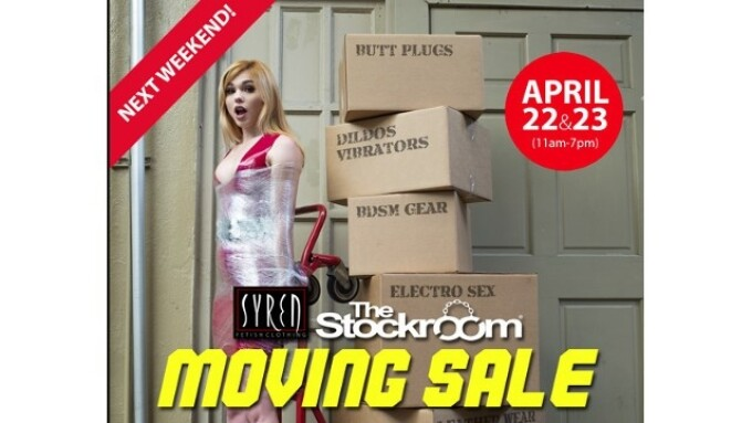 The Stockroom to Relocate; Hosting Moving Sale April 22-23
