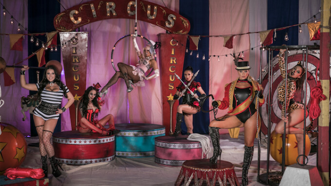On the Set: All-Star G/G Circus Orgy Proves 'Jessica Drake Is Wicked'