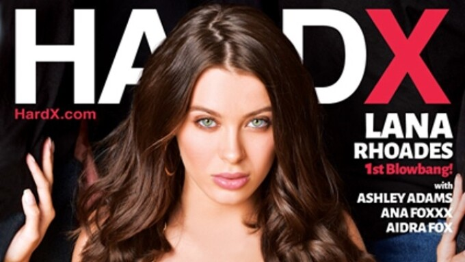 Hard X Releases 'Facialized 4' Featuring Lana Rhoades' 1st Blowbang