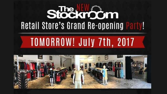Stockroom Plans Grand Re-opening Party for Flagship Store