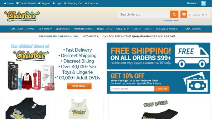 Chaturbate Opens Online Retail Store