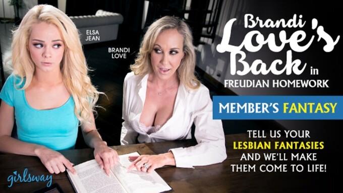 Girlsway's 'Freudian Homework' Stars Brandi Love, Elsa Jean