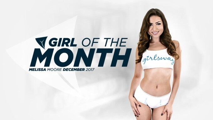 Melissa Moore Named December Girlsway Girl of the Month