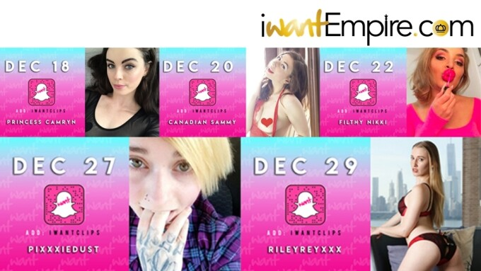iWantEmpire Announces December Snapchat Takeovers