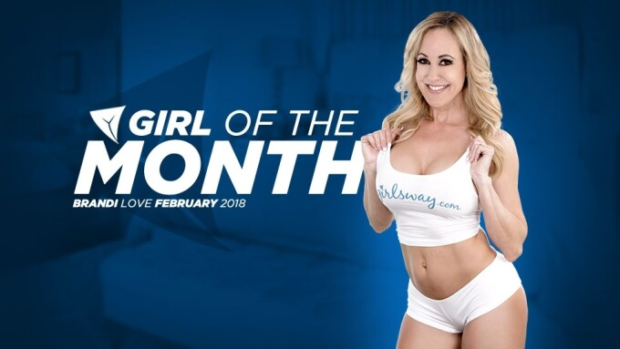 Brandi Love Named February Girlsway Girl of the Month