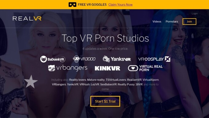 Video: BaDoinkVR Debuts VR Porn Supersite RealVR.com