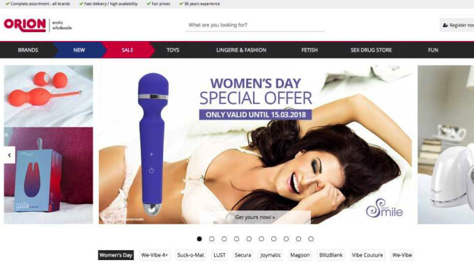 Sex Toy Distributor Orion Wholesale Relaunches Online Shop