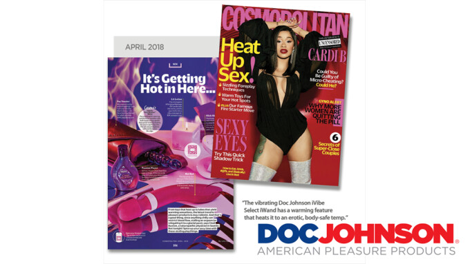 Doc Johnson's iWand Featured in Cosmopolitan Cover Story
