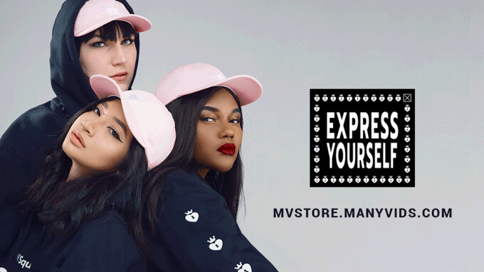 ManyVids Unveils 'Express Yourself' MV Gear Collection