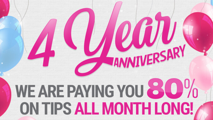 iWantClips Celebrates 4th Anniversary With 80% Payouts for Content Creators