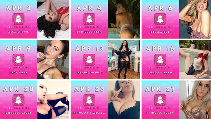 iWantClips Announces Lineup for April's Snapchat Takeovers