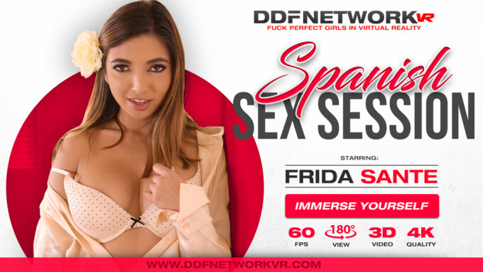 Frida Sante's New DDFNetwork VR Scene Is Spicy
