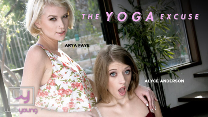 Alyce Anderson, Arya Fae Use 'The Yoga Excuse' to Get Limber for Girlsway