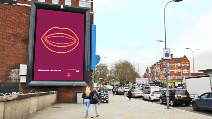 MysteryVibe Launches 'Orgasm Gap' Billboard Campaign in London