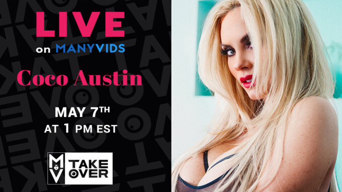 Coco Austin to Appear Live Monday on ManyVids