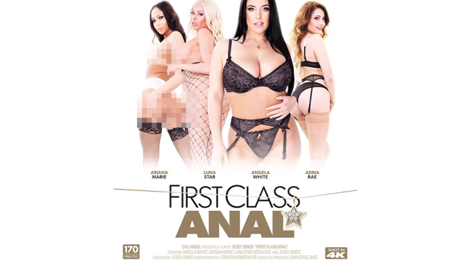 Jessy Jones' Evil Angel Directorial Debut 'First Class Anal' Available June 6