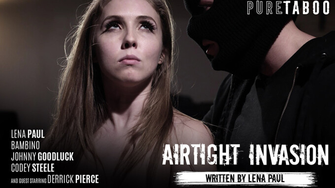 Lena Paul Braces for 'Airtight Invasion' in PureTaboo Scene