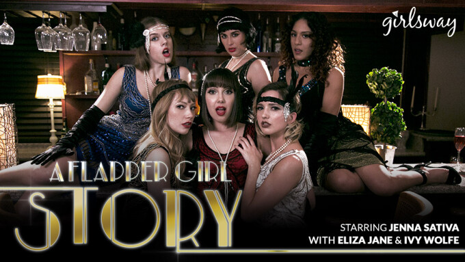Jenna Sativa Time Travels to Roaring '20s in Girlsway's 'A Flapper Girl Story'