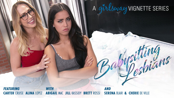 Girlsway Introduces New Vignette Series 'Babysitting Lesbians'