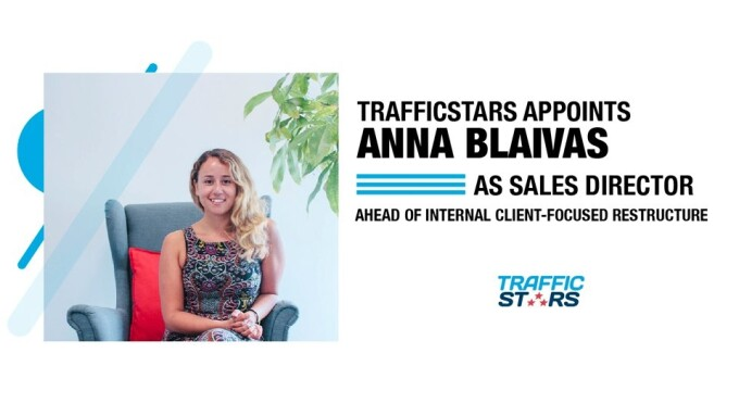 TrafficStars Re-Focuses on Clients, Anna Blaivas Named Sales Director