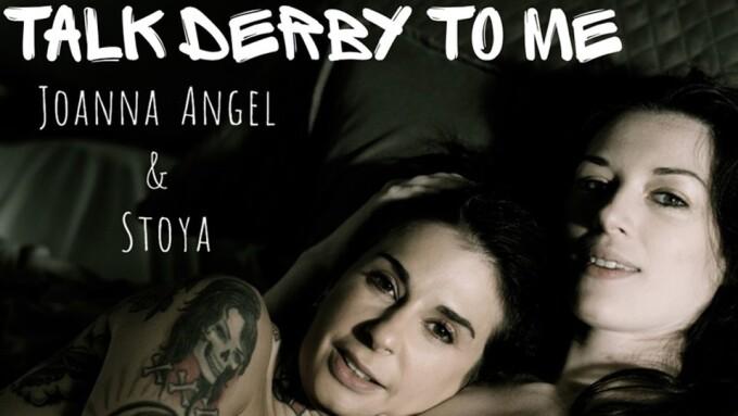 Joanna Angel, Stoya in 1st Lesbian Scene for Sweatheart's 'Talk Derby To Me'