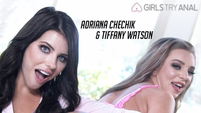 Adriana Chechik, Tiffany Watson Try 'Horny Ass Fuck' for Girlsway