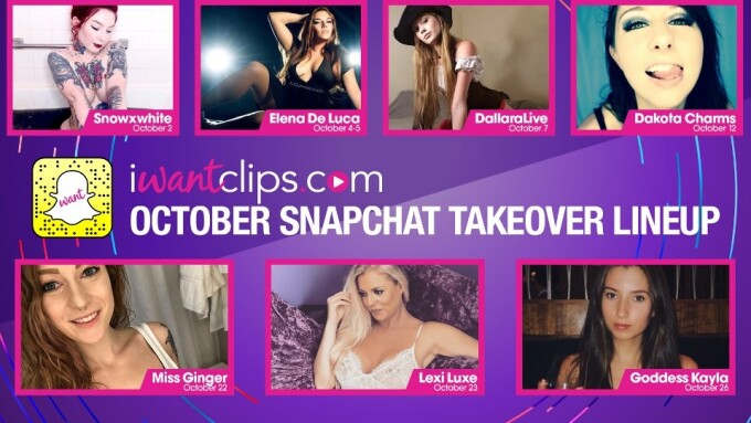 iWantClips Announces Roster for October Snapchat Takeover