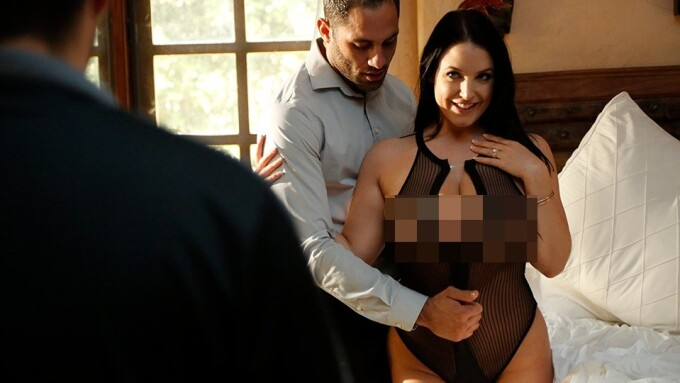 Angela White Stars in New Sensations' 'Watching My Hotwife 4'