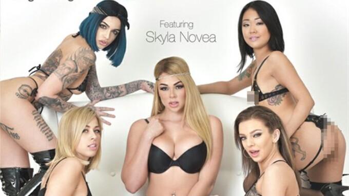 Skyla Novea Anchors 'Squirt Gangbang Vol. 6' for Elegant Angel