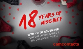 CamContacts Celebrates 18th Anniversary With Games, Prizes