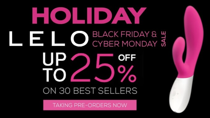 Holiday Products, LELO Announce Black Friday/Cyber Monday Sale