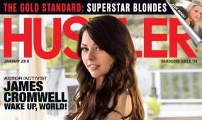 Megan Sage Lands Cover of Hustler Magazine's January Issue