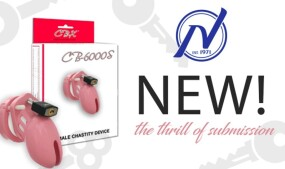 Nalpac Now Shipping CB-X's CB-6000S Pink Chastity Cage