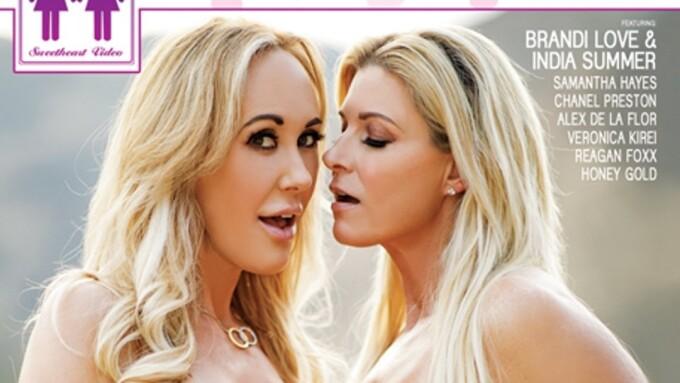 Brandi Love, India Summer Enjoy 'Girls Kissing Girls' for Sweetheart
