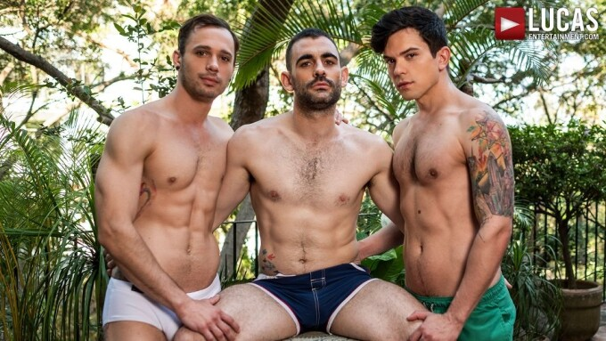 Max Arion Enjoys 'Double the Dick' Threesome for Lucas