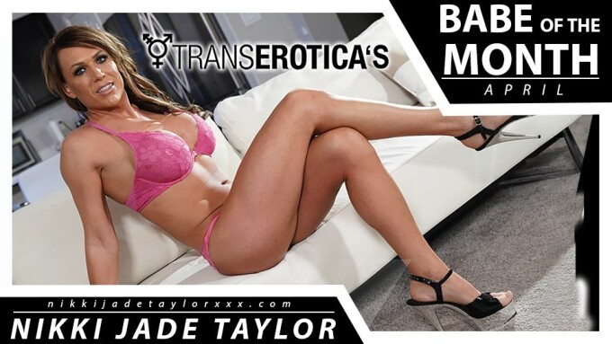 Nikki Jade Taylor is TransErotica's April 'Babe of the Month'