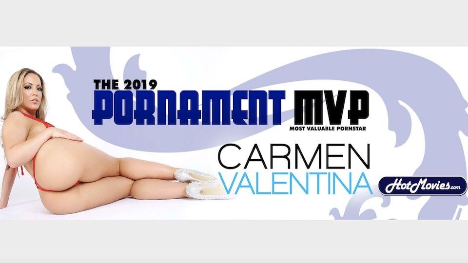 Carmen Valentina Wins Hot Movies' The Pornament 2019