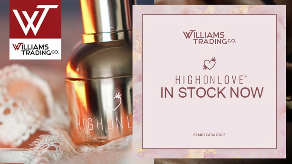 Williams Trading Offers High On Love CBD Sensual Cosmetics