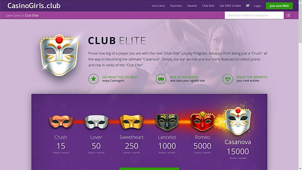 Casino Girls Club Offers 'Club Elite' Member Loyalty Program