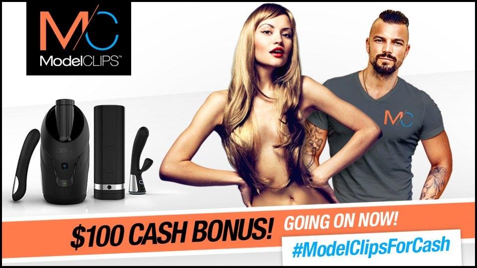 ModelClips Announces $100 'Upload & Tweet' Bonus for Models